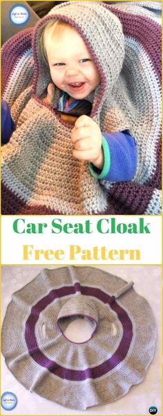 Crochet Car Seat Cloak Free Pattern - Crochet Baby Shower Gift Ideas Free Patterns