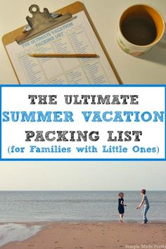 Be prepared for your next family Summer vacation with our handy Summer Vacation Packing list. This list will give you the basics that you need with space to add your notes or other items