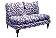 One Kings Lane - Power of Pairs - Bacall Armless Settee, Amethyst