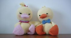 #crochet, free pattern, amigurumi, duck, stuffed toy, #haken, gratis patroon (Engels), eend, knuffel, speelgoed, #haakpatroon