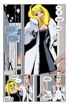 "This is Gwen Stacy's ""face it Tiger,"" moment (from Spider-Man: Blue)"