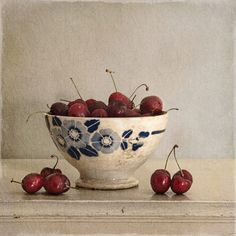 Still Life With Cherries And Bowl, processing by Tineke Stoffels