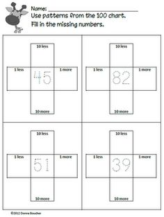 Classroom Freebies Too: Hundred Chart Patterns Printables