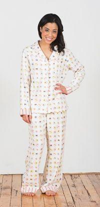 "Munki Munki Women's ""Sushi"" Cozy Flannel Pajama $59.99 - SHOP http://www.thepajamacompany.com/store/18521.html?category_id=11383"