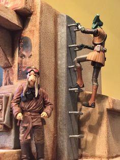 "Custom Sci Fi Domed Desert Building Playset Diorama Star Wars 1:18 3.75"" | eBay"