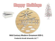 Mid Century Modern Ornament 8391 by FredArndtArtworks on Etsy, $14.95