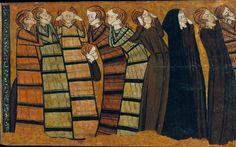 Anonymous Castile,Плачущие, ок 1295, 53 cm x 87,8 cm, Пергамент на дереве, темпера Museu Nacional d'Art de Catalunya