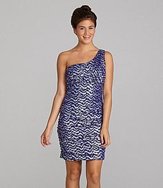 Teeze Me Ruched OneShoulder Dress #Dillards