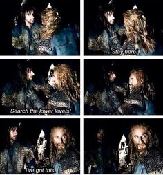 This scene is devastating! I knew they were gonna die in that part! So heartbreaking.  Fili and Kili in BOTFA