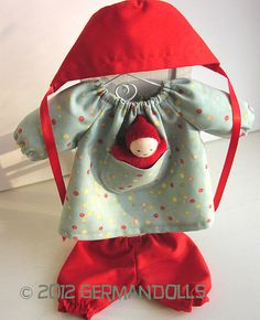 waldorf doll top - love the pocket for a baby