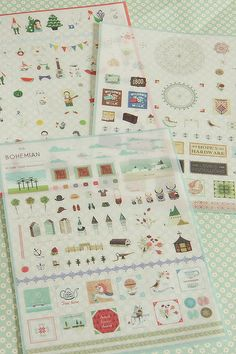 Kawaii Diary Sticker Set-Day Planner Stickers-Japanese Sticker Set-Super Cute-Organization-Decorating your stuff
