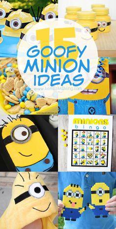 15 Goofy MINION Ideas - LOVE these yellow dudes!!