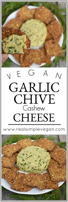 Not eating dairy and missing cheese? No prob! This Chive and Garlic Cashew Cheese is only five ingredients but is fireworks in your moth.