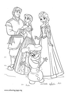 Anna, Kristoff, Elsa and Olaf are happy that summer has returned to kingdom of Arendelle. Enjoy with this awesome printable Disney Frozen movie coloring page!