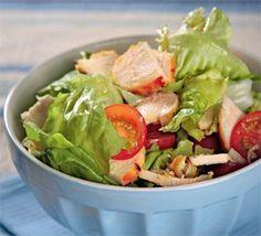 Салат с медово-горчичной курицей Diet Recipes, Chicken Recipes, Cooking Recipes, Healthy Recipes, Russian Recipes, Recipe For 4, Paleo Diet, Bon Appetit, Salads