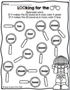 OO Sound Printable {1st Grade}