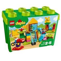 Buy LEGO DUPLO 10864 Large Playground Brick Box from our Construction Toys range at John Lewis & Partners. Toys R Us, Kids Toys, Shop Lego, Buy Lego, Box Building, Building Toys, Hama Beads Minecraft, Perler Beads, Train Lego Duplo