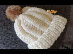 Cómo Tejer GORRO FRANCÉS - 2 agujas (488) - YouTube Crochet Hooded Scarf, Crochet Beanie Hat, Crochet Cap, Crochet Doilies, Knitted Hats, Loom Knitting Projects, Knitting Stitches, Crochet Projects, Knitting Patterns