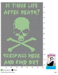 LIFE AFTER DEATH by CARRIE PERKINS -- (SKULL & CROSSBONES) WALL HANGING