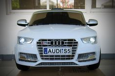 Audi S5 Sport 12V Electric Kids Ride-On Car with Parental Remote   White