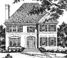 Southern Charm Country French - Stephen Fuller, Inc.   Southern Living House Plans