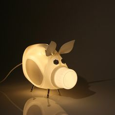 Animal lamp made from recycle laundry bottle