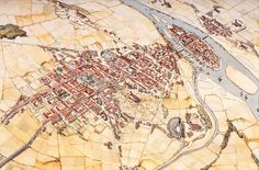 Paris during the Merovingian dynasty 481 - 751 (Modern Paris, France) Cluny France, Reims France, Paris France, Fantasy Map, Fantasy Artwork, Paris Au Moyen Age, Vincennes France, Plan Ville, Reims Cathedral
