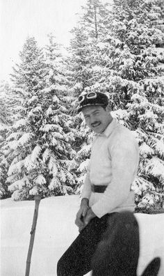 "Hemingway Skiing in Gstaad, Switzerland - ""For whom the Ski Bell Tolls"" #ski #helmethuggers"