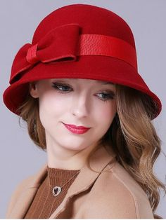 GET $50 NOW | Join RoseGal: Get YOUR $50 NOW!http://www.rosegal.com/hats/streetwear-big-bowknot-band-felt-776713.html?seid=1424208rg776713