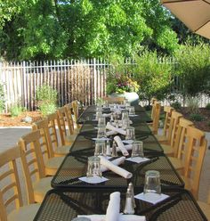 The patio is perfect for large parties