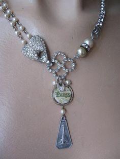La Belle Epoch ... antique paste french paris repurposed necklace