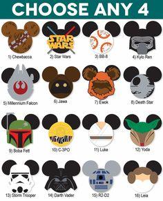 Mickey Heads: Star Wars Die Cuts
