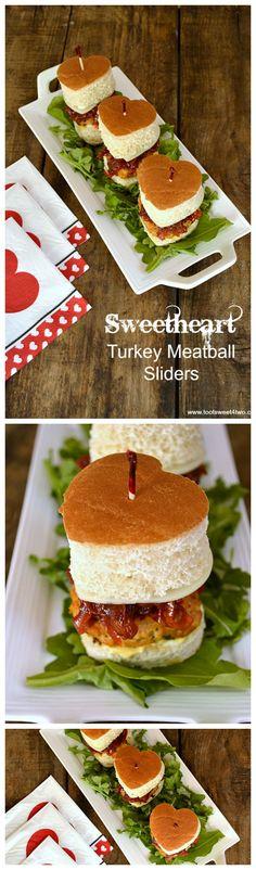 Sweetheart Turkey Meatball Sliders collage