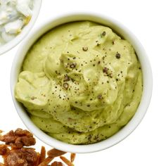 This creamy avocado mixture is perfect as a dip for veggies or as a spread on sandwiches. Plus, it has heart-healthy monounsaturated fats to speed up your metabolism and keep you feeling full.  And it takes less than 5-minutes to make! | Health.com