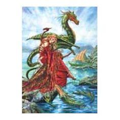 Postcard - The Dragon Charmer's Daughter. 2,45€