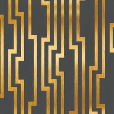 Velocity Wallpaper in Charcoal and Gold design by Candice Olson