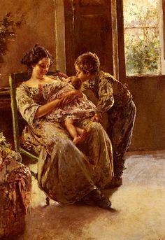 """The Kiss"" von Vincenzo Irolli (geboren am 30. September 1860 in Neapel, gestorben am 27. November 1949 ebenda), italienischer Maler."