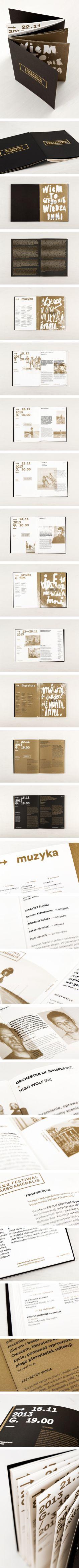 <> XXII Festiwal Ars Cameralis brochure by Marta Gawin