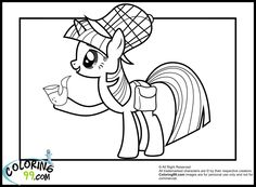 Pony Equestria Coloring Pages See More Twilight Detective