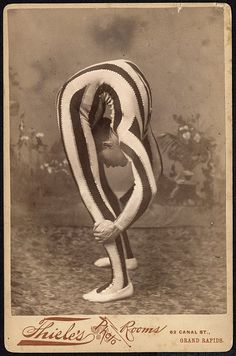 Contortionist, posed in studio. 1880s