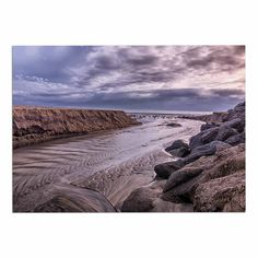 KESS InHouse Nick Nareshni 'Clouds Over Carlsbad Beach' Blue Coastal Dog Place Mat, 13' x 18' ** Don't get left behind, see this great dog product : Dog food container