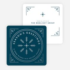 Classic Foil Snowflake Corporate Holiday Cards
