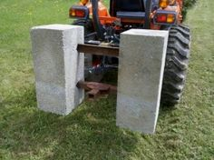 Homemade Tractor Ballast Boxes - HomemadeTools.net 3 Point Attachments, Compact Tractor Attachments, Sub Compact Tractors, Small Tractors, Tractor Loader, Tractor Seats, Homemade Trailer, Tractor Accessories, Kubota Tractors