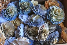 Upcycled Recycled Repurposed Newspaper Paper Flowers