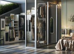 Inspirational Begehbarer Kleiderschrank mit Glast ren und Schr nken