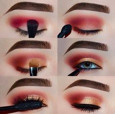 Modern renaissance palette Step 1: Apply shades Golden Ochre and Love Letter in your crease to a clean base! Use a concealer or eye primer and set with a skin tone powder or translucent powder Step 2: Deepen crease and outer corner with the shade Red Ochre Step 3: Apply Primavera half way on your lid, then dip your brush into a little more of the Red Ochre, and lightly blend the colors together so it doesn't look too harsh Step 4: Apply any liner to your waterline