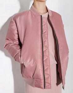 dusty pink bomber  #fashion #pixiemarket