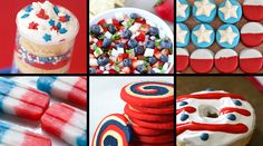 In this quick reference guide to independence day recipes, Lauren Grier brings together a collection of red, white and blue food from around the web - from red velvet pancakes to patriotic push pops and everything in between! Fourth Of July Food, 4th Of July, Red Velvet Pancakes, Chicken Breakfast, Blue Food, Holiday Recipes, Holiday Foods, Desert Recipes, Fun Drinks