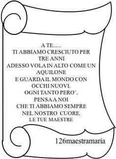 Manifestazione di fine anno:dedica con pergamena Reggio Children, Dads, Teacher, Education, Hobby, Montessori, Bullet Journal, Gym, Google