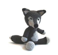 Crochet pattern Wolf  amigurumi  instant by YukiYarnDesigns, €3.95